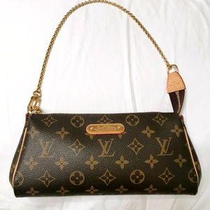 Authentic Louis Vuitton Eva Clutch Monogram Bag